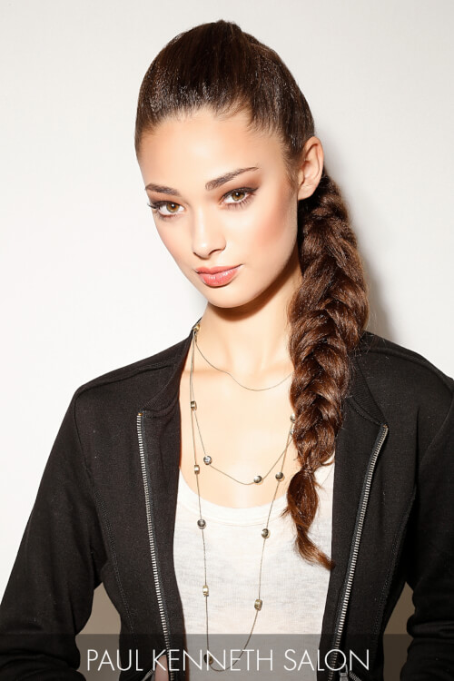 Winter Side Braid Hairstyle