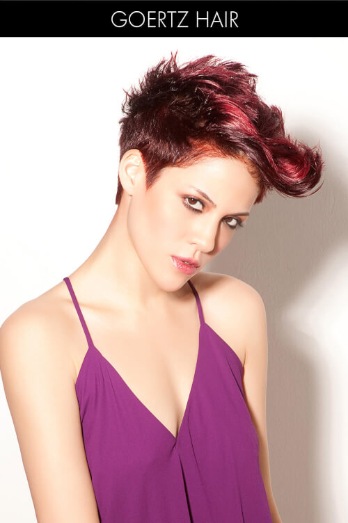 Hair Color for Spring with Pink Highlights