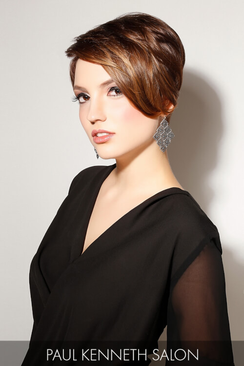 Swept Back Short Hairstyle for Winter