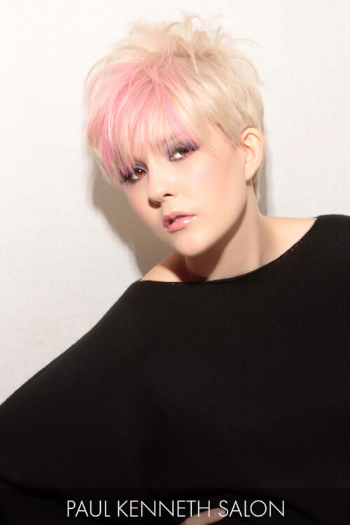 Soft Pink and Blonde Hair Color for Winter