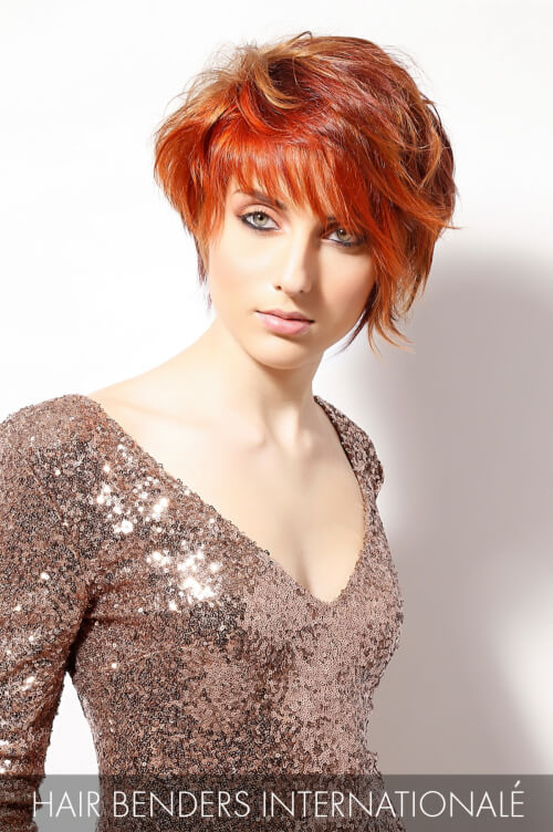 Bright Copper Hair Color with Mahogany