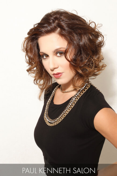 Curly Lob Hairstyle
