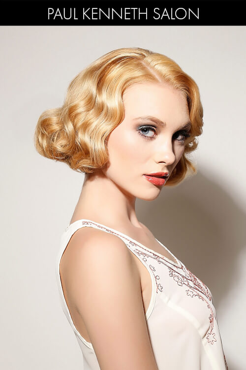 Sultry Hairstyle with Finger Waves