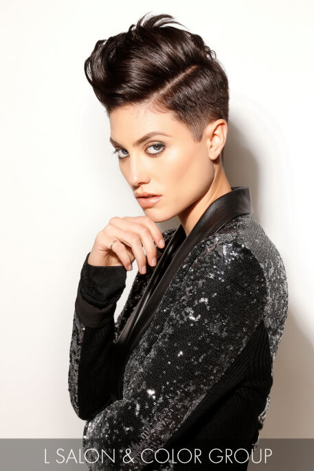 Stylish Androgynous Winter Hairstyle