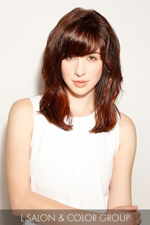 Smooth Hairstyle with Fringe for Spring