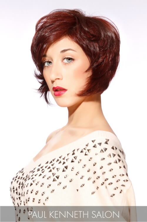 Tapered Bob Hairstyle with Volume