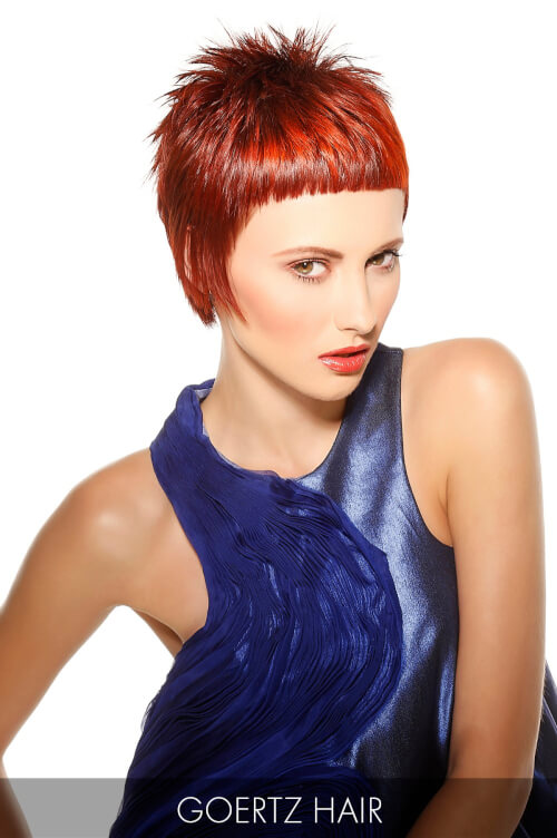 Dark Red Hair Color for Fall with Orange Highlights