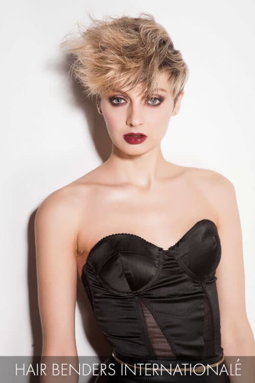 Short Side Swept Hairstyle for Winter