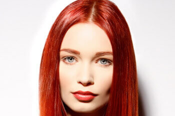 Bright Red Hair Color with Copper Ends