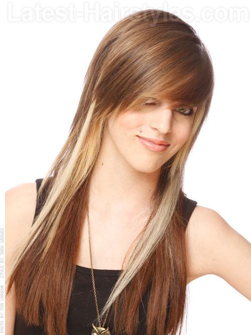 Long blonde cinnamon hair color for straight hair