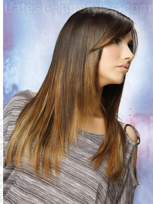 24 long straight hairstyles that are hot right now updated 2017 a long and straight haircut with swept bangs urmus Images