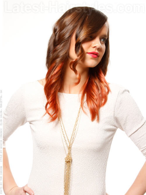 Blazing Ombre Warm Copper Highlights Side View