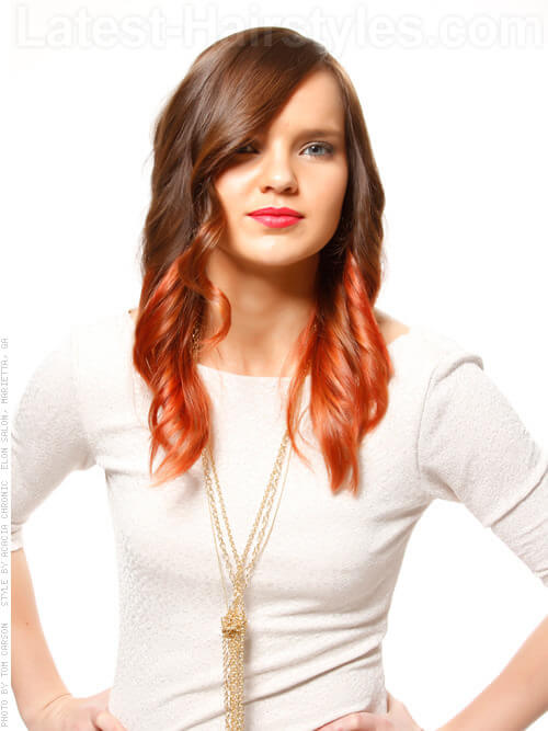 Blazing Ombre Warm Copper Highlights