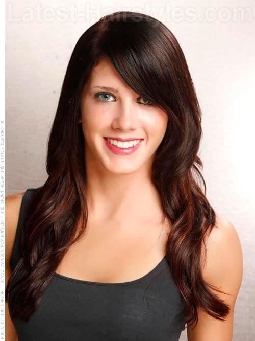 Cherry Cola Brown Hair Color With Highlights Brunette beauties with