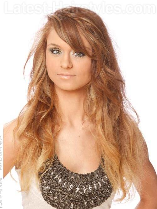 long honey brown hairstyle