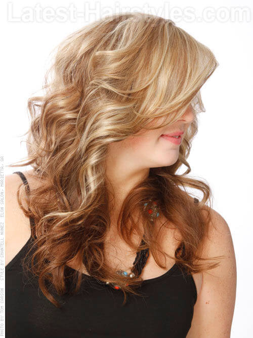 Perfect Reverse Blonde to Brown Ombre Hair Color Side View