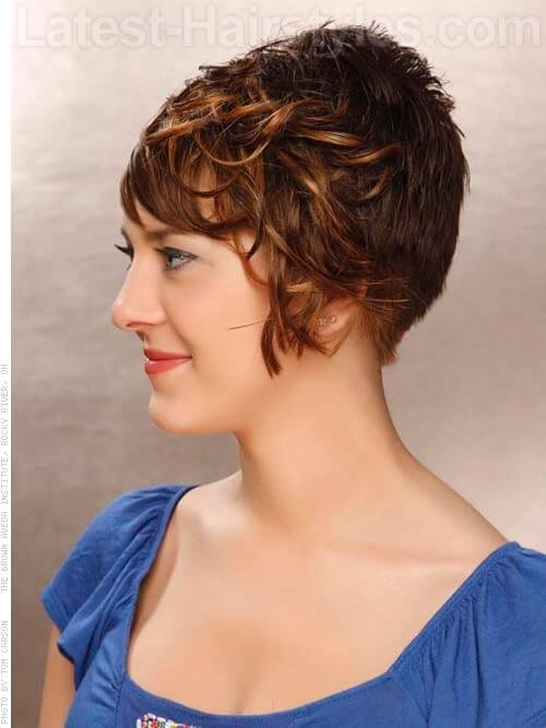 Short and Sassy Ombre Hair Color Side View
