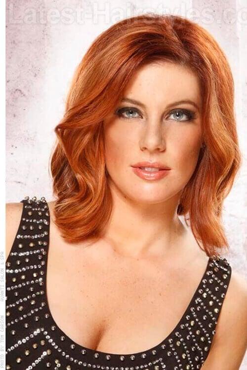 Medium shoulder length hairstyle