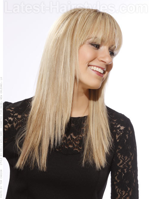 California blonde hair color side view