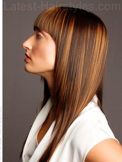 long sleek hairstyles