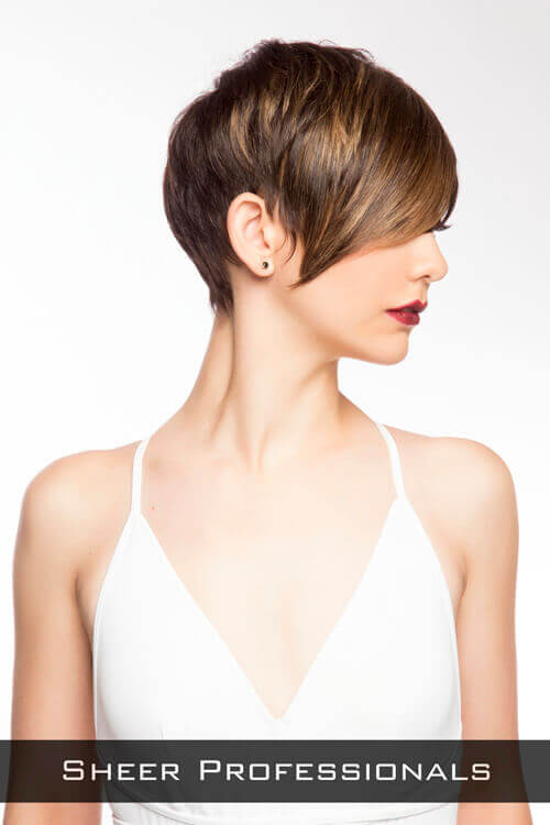 Low Maintenance Short Layered Hairstyle Side