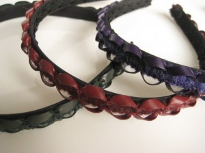 Italian leather headbands