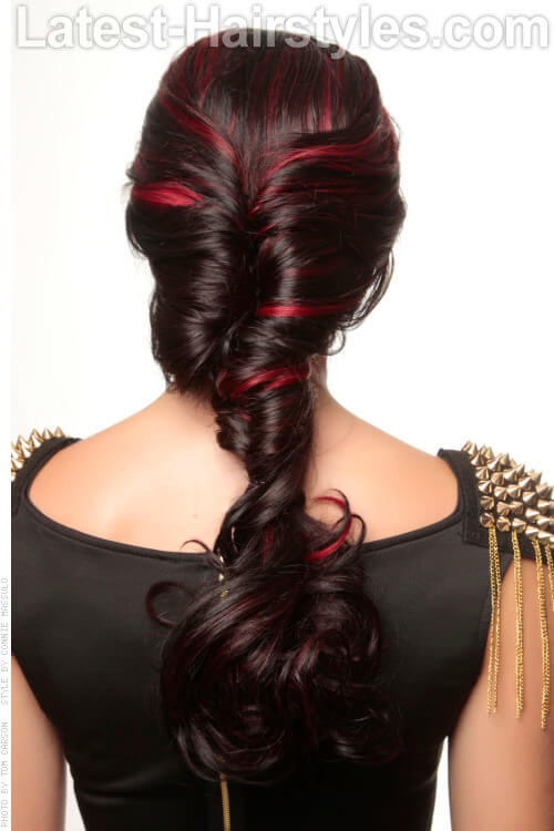 Big Attitude Thick Braid Bright Red Highlights