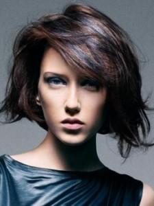 a blue bob hairstyle