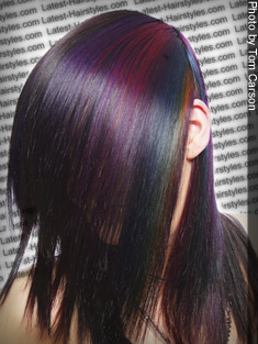 bold color blocked hair