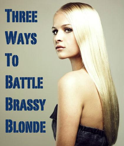 brassy blonde hair color