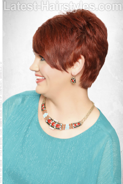 Chic Short Hairstyle with Layers Side View