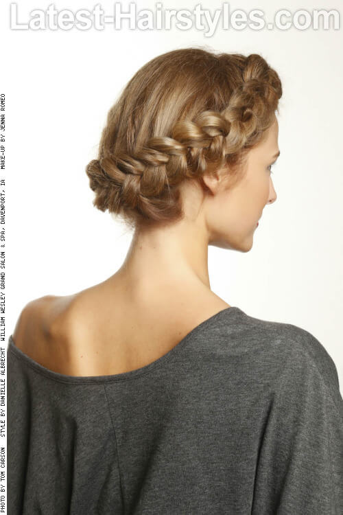 Cute Braided Updo for Long Hair Side