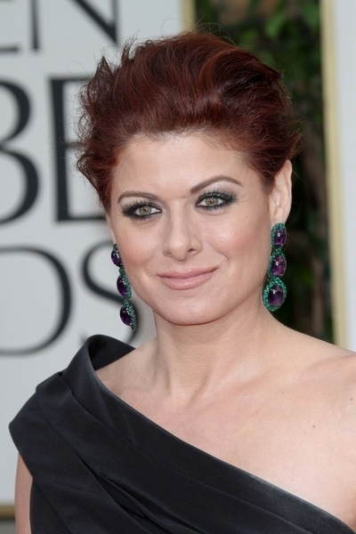 Debra Messing's textured hair