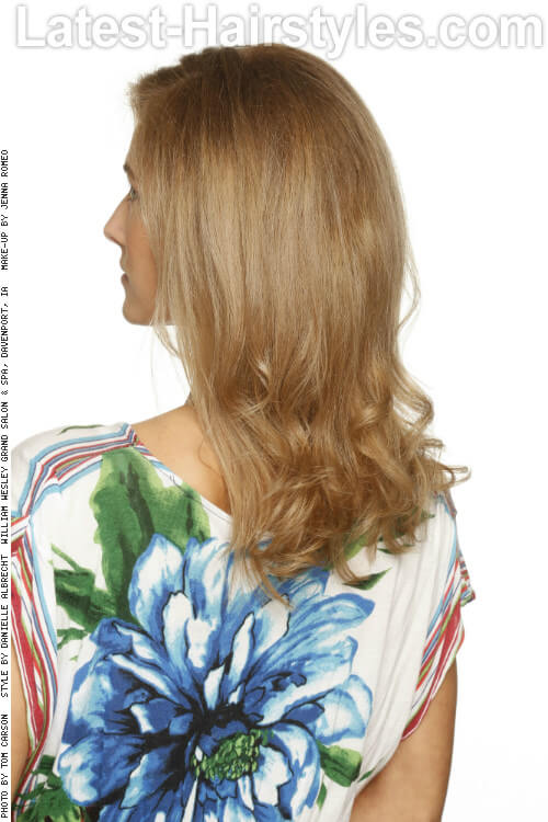 Easy Blowout for Long Hair Back