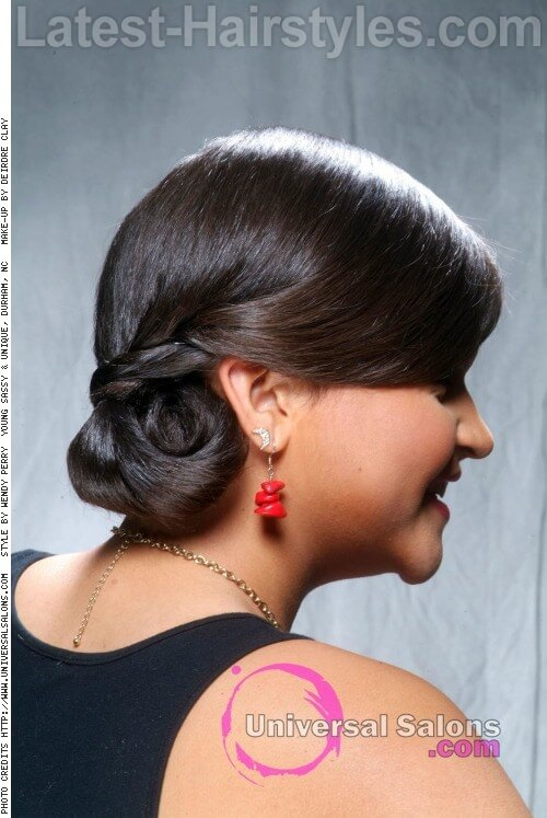 Easy Chignon for Long Hair SIde
