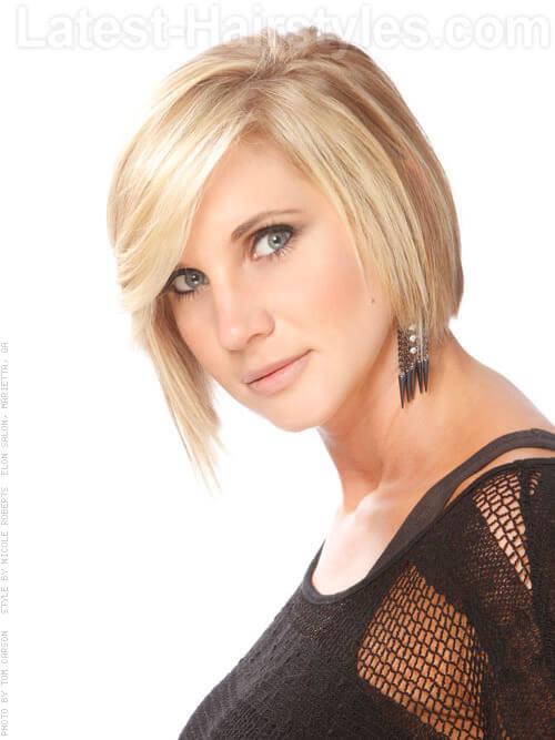 Flirty Asymmetrical Hairstyle Side View