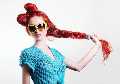 braided hair bows