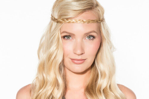 Long Boho Hairstyle with Braid and Waves