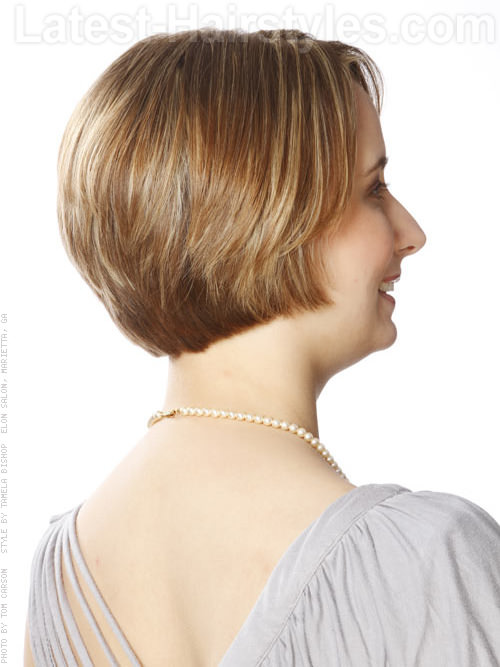 Short Geometric Bob Hairstyle Back View