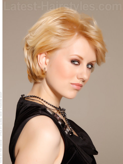Short Haircut with Volume and Texture Side View