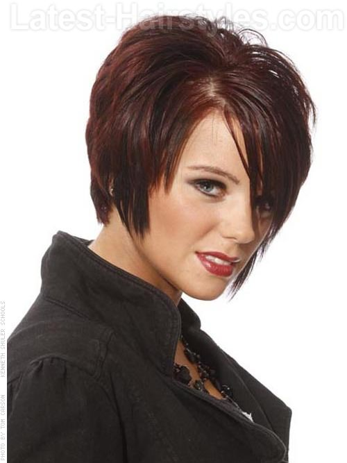 Short Hairstyle with Volume Layers and Fringe