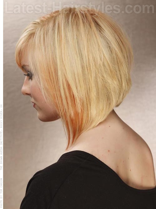 Angled Bob Medium Hairstyles For Heart Shaped Faces Side View