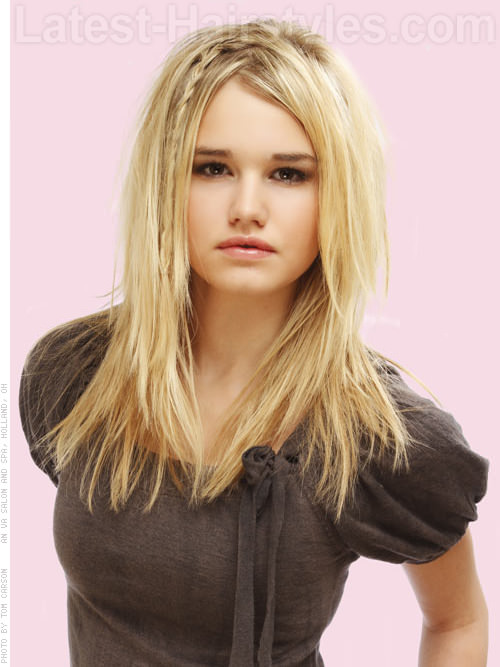 Blonde Bohemian Shag with Braid - Long Hairstyles for Square Faces
