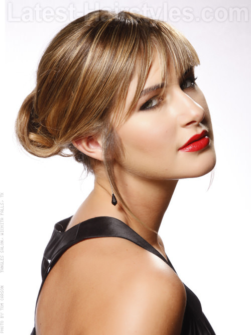 Chignon Cute Style with Bangs