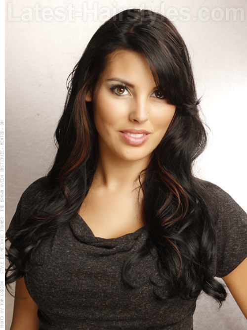 Long Hairstyles for Square Faces Simple Brunette Layers