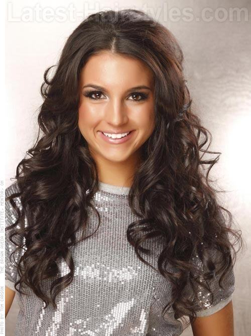Long Hairstyles for Square Faces Brunette Layers and Waves