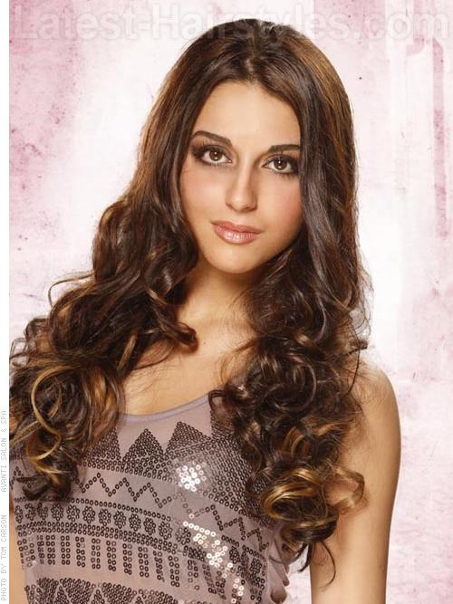 Long Hairstyles for Square Faces Soft Brunette Curls and Waves