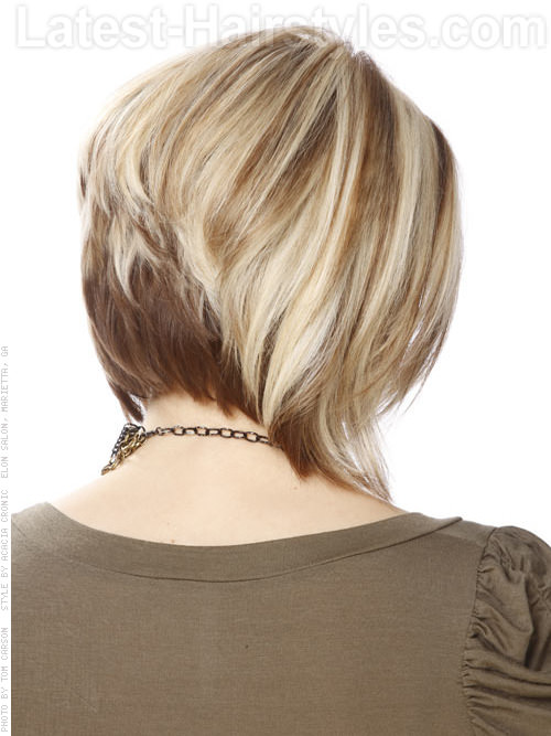 Medium Blonde Bob - Stacked - View 2