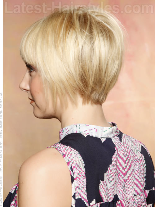Mod blonde medium length hairstyle - Shaped Back
