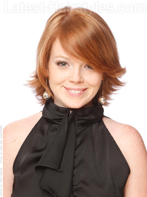 Short choppy and layered flipped hairstyle